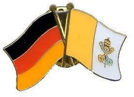 Vatikan Deutschland Fahne/Flagge Pin