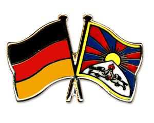 Tibet-Deutschland Fahne/Flagge Pin