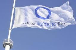 [World Diabetes Day flag]