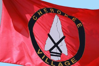 [Flag of Cherokee Village, Arkansas]