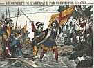 [Alleged Flag of Columbus in 19th-Century French Print]