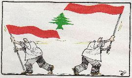 [2005 Al-Hayat Flag Cartoon (Lebanon)]